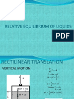 Relative Equilibrium of Liquids