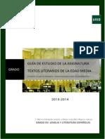 Guia Estudio Grado Parte 2 TEXTOS LITERARIOS EDAD MEDIA 2013-14 Definitiva
