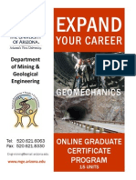MGE Geomechanics Certificate Program
