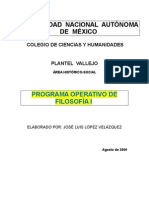 Programa Operativo 1 de Filosofía  09-10