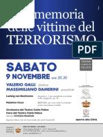 CONCERTO IN MEMORIA DELLE VITTIME DEL TERRORISMO