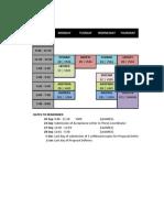 Schedule 2nd Term
