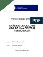 ANÁLISIS DE CICLO DE VIDA DE UNA CENTRAL TERMOSOLAR