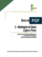 (3 - Modelagem de Dados - Lógico e Físico)