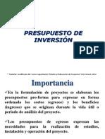 Presupuesto Inversion