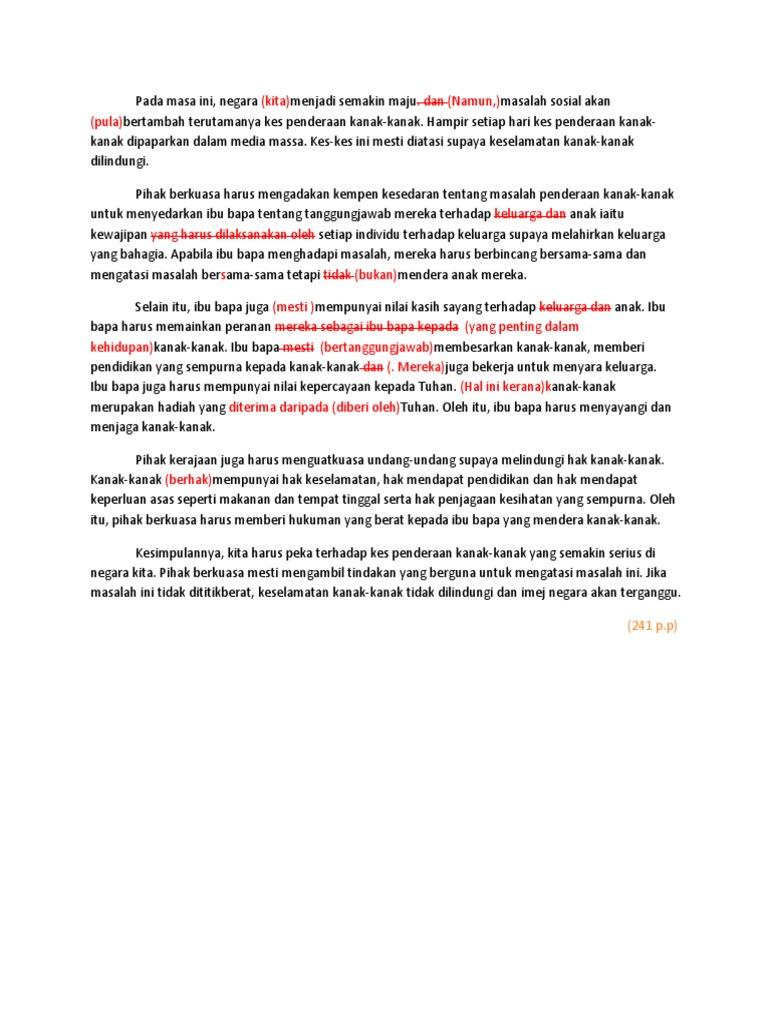 Keselamatan Kanak Kanak Tanggungjawab Bersama Karangan