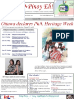 June 2009 issue of Pinoy EH! Serving FilCan in Canada's National Capital Region