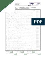 Test-CAD - Cuestionario de Afrontamiento Del Dolor