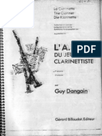 L'ABC Du Jeune Clarinettiste - Guy Dangain - Vol 1