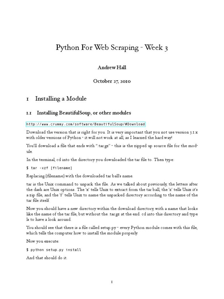 Python For Web Scraping | Hyperlink | Html Element