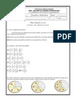 Lista de Matemática 7º ano