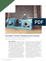 When Consider a PD Pump