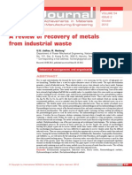 A Review of Recovery of Metals
