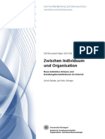 Dolata Schrape 2013 – Zwischen Individuum und Organisation