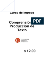 Comprensión y producción de Textos