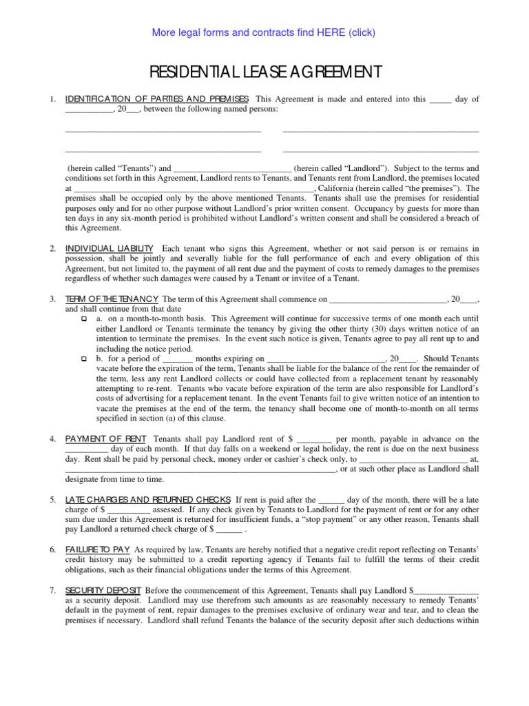 Lease Agreement Leasehold Estate Landlord