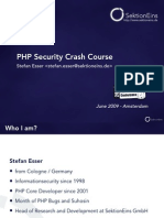 PHP Security Crash Course - 1 - Introduction