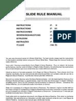 Seiko Rotary Slide Rule manual