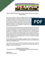 Frente Amplio - Pronunciamiento ante designación de Martha Chavez