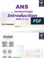 Introduction:ANS pharmacology