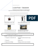 Origins and Trust Classwork