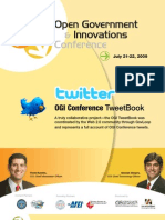 """Open Government and Innovations Conference """"TweetBook"""""""