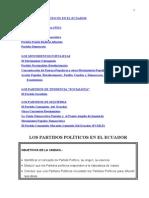 LOS PARTIDOS POLÍTICOS EN EL ECUADOR