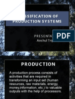 Classification of Production Systems