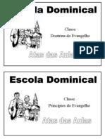 Capa Das Atas Das Aulas Da Escola Dominical