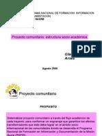 Proyecto comunitario estructura socio académica