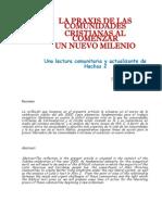 Pimentel F. - La Praxis de Las Comunidades Cristianas Al Comenzar Un Nuevo Milenio