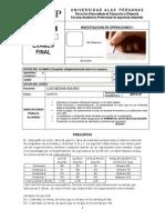 Examen Final de IO1 2013-2
