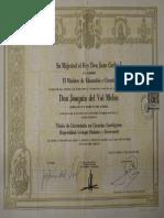 Principales Certificados JdVM Nov 13