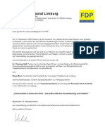FDP Stadtverband Limburg - Einladung zum Stammtisch am 12.11.2013