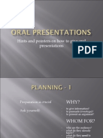 How to make Good Oral Presentations