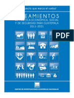 Lineamientos de política económica, social y de seguridad para Guatemala 2012-2021