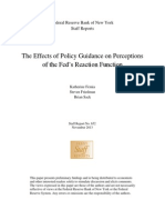 The Effects of Policy Guidance on Perceptions of the Fed's Reaction Function