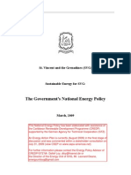National Energy Policy of St. Vincent and the Grenadines, March 2009