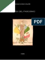 Volpe - Genesi Del Fascismo (1935)