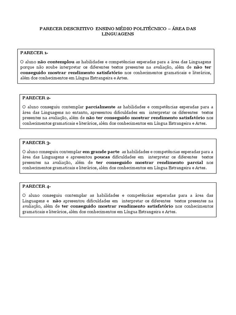 Populares Relatorio descritivo de aluno - Modelo de relatório do Aluno  BT12