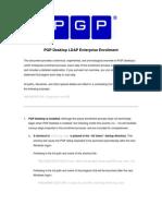 PGP Desktop LDAP Enterprise Enrollment