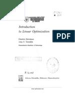 Athena Scientific - Introduction to Linear Optimization - Bertsimas - Dimitris (1997)