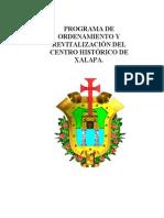 Actualización del programa de Ordenamiento y Revitalización del Centro Histórico de Xalapa
