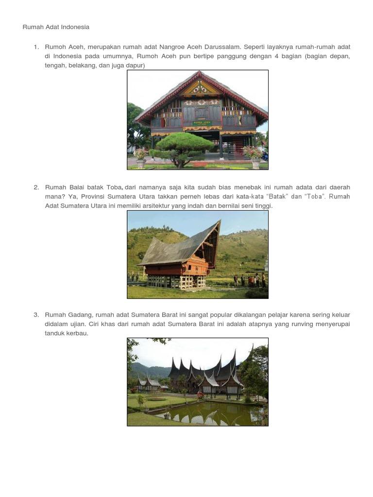 9400 Koleksi Gambar Rumah Adat Sumatera Utara Dan Namanya HD