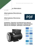 WEG Alternadores Sincronicos Linea g 10680382 Manual Espanol