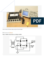 How to make a DC power supply using the AC wall voltage