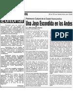 Huancavelica Una Joya Escondida en Los Andes. Por