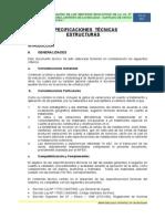 1. ESPECIFICACIONES ESTRUCTURAS