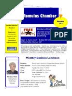 Greater Romulus Chamber of Commerce E-Savings Newsletter - November 2013