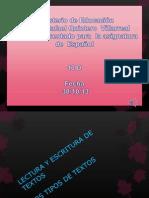 proyecto tipos de textos